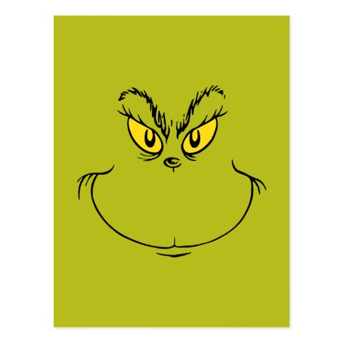How the Grinch Stole Christmas Face Postcard