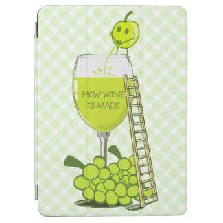 How Wine is Made Funny Illustration iPad Air Cover