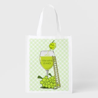 How Wine is Made Funny Illustration Market Tote