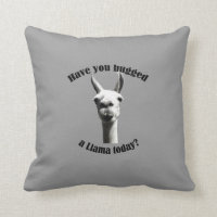Hugged a Llama Throw Pillow