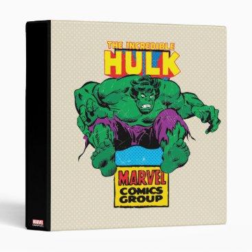 Hulk Retro Comic Character Binder