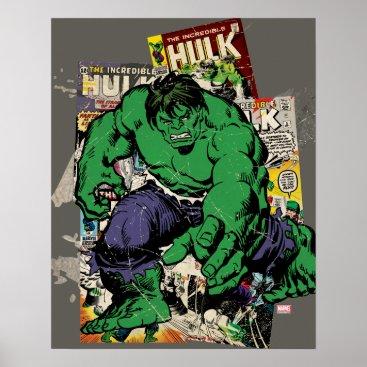 Hulk Retro Comic Graphic Poster