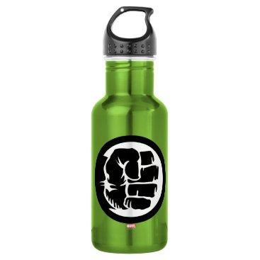 Hulk Retro Fist Icon Water Bottle