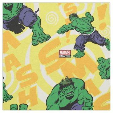 Hulk Smash Poses Pattern Fabric