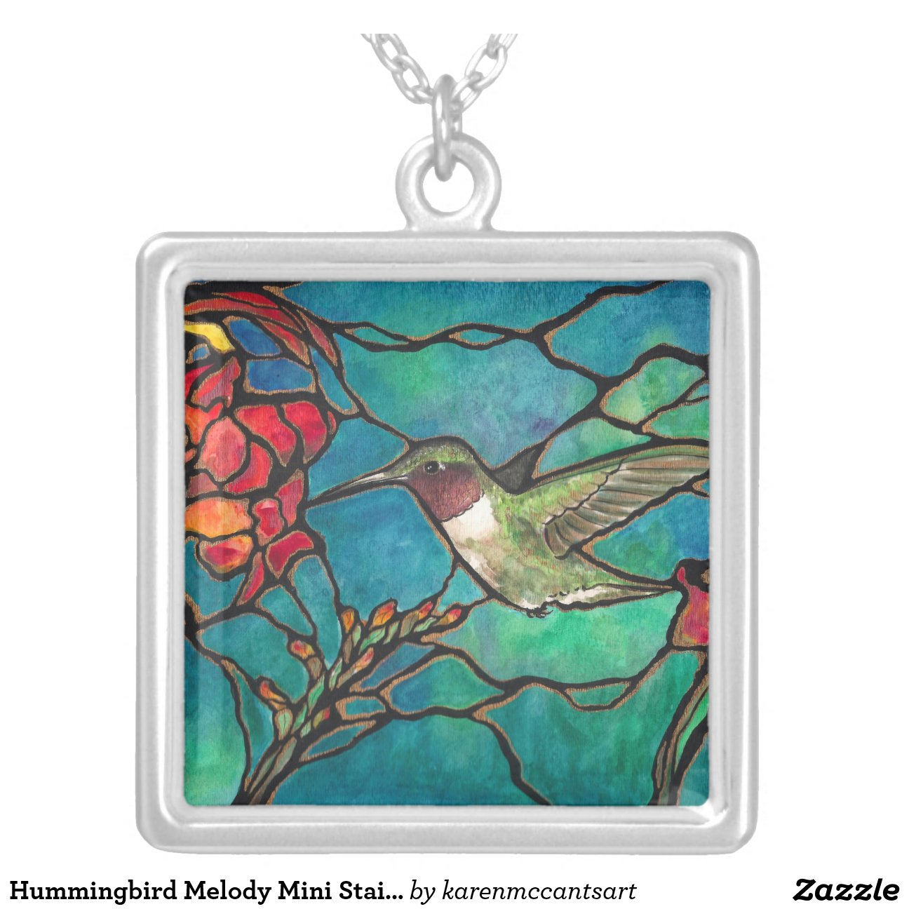 Hummingbird Melody Mini Stained glass Window! Personalized
