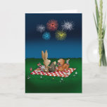 ❤️ Humorous 4th of July Card with Fireworks - Friends