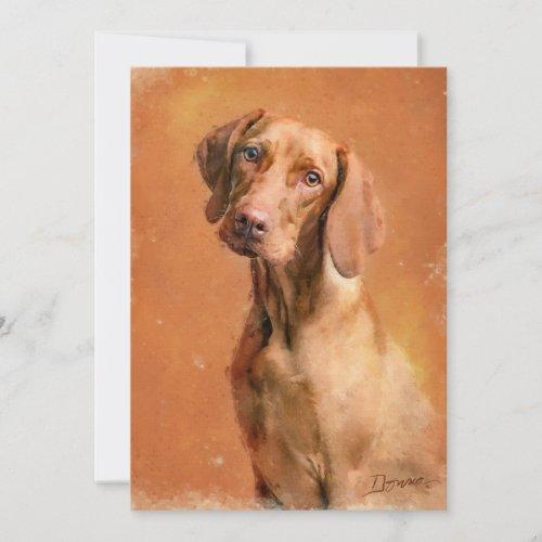 Hungarian Vizsla Dog Art Painting
