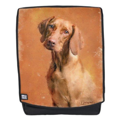 Hungarian Vizsla Dog Art Painting Backpack