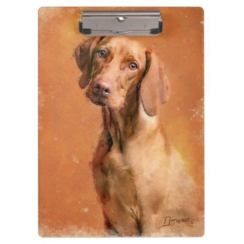 Hungarian Vizsla Dog Art Painting Clipboard