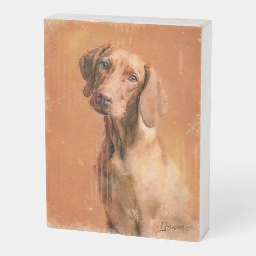 Hungarian Vizsla Dog Art Painting Wooden Box Sign