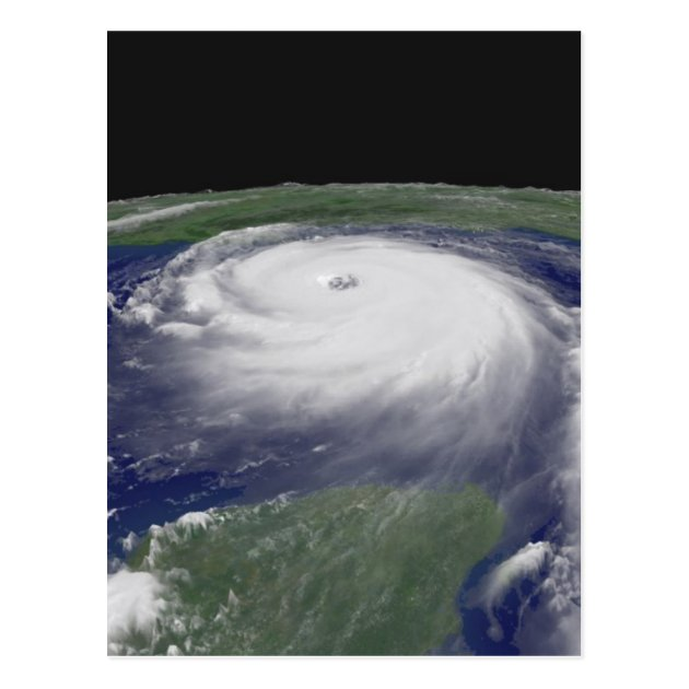 Hurricane Katrina Satellite image Postcard  Zazzlecom