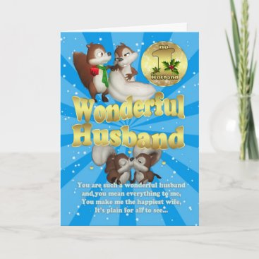 Husband Christmas Card - Love Squirrels