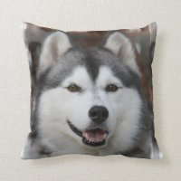 Husky Dog Pillow | Zazzle