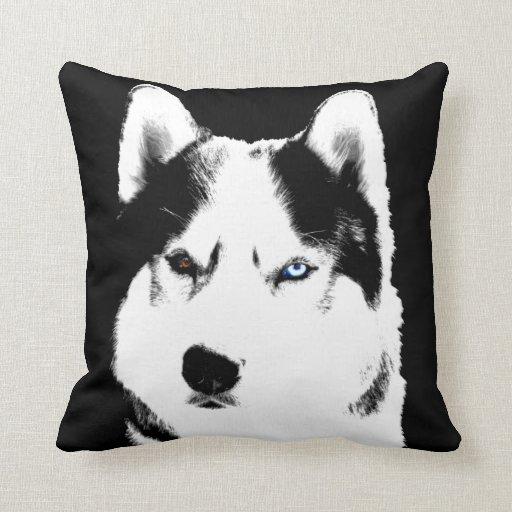 Husky Pillow Siberian Husky Malamute Pillow Gifts  Zazzle