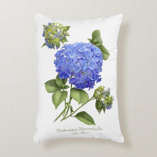 Hydrangea Blue Wave Accent Pillow
