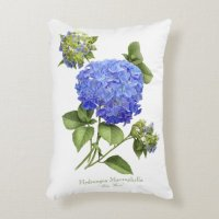 Hydrangea Blue Wave Accent Pillow