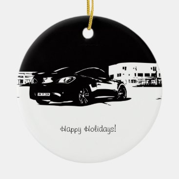 Hyundai Genesis Coupe Rear View Ceramic Ornament