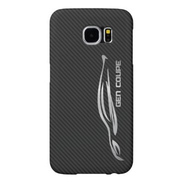 Hyundai Genesis Coupe - Silver on Faux Carbon Samsung Galaxy S6 Case