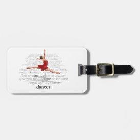 I Am A Dancer Bag Tag