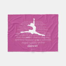 I Am A Dancer Fleece Blanket