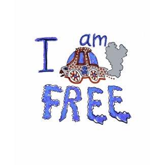 I am CAR free shirt