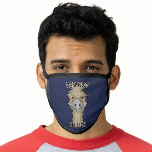 I Am Not Emused Funny Emu Pun Face Mask
