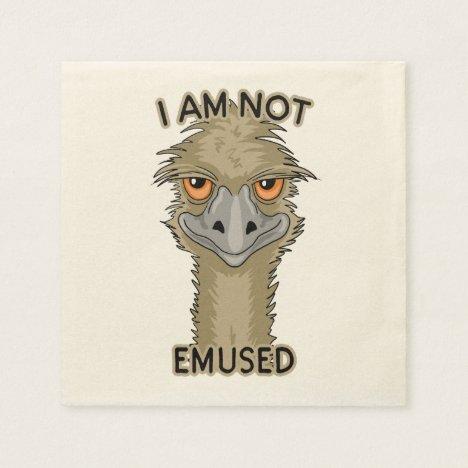 I Am Not Emused Funny Emu Pun Napkins