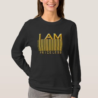 'I Am Priceless' Barcode (Gold Solid) Shirt shirt