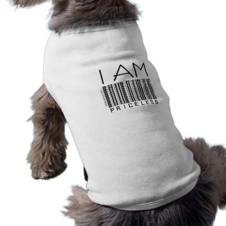 'I Am Priceless' Barcode Pet Clothing petshirt