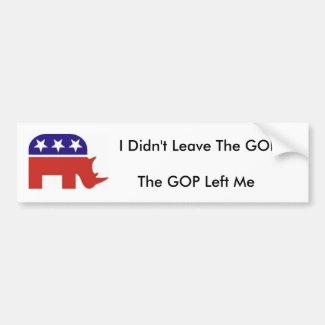 I didn't leave the GOP, the GOP left me