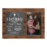 I DO BBQ Couple's Shower Party Wood Chalk Photo Invitation