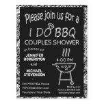 I Do | BBQ | Couples Shower Postcard