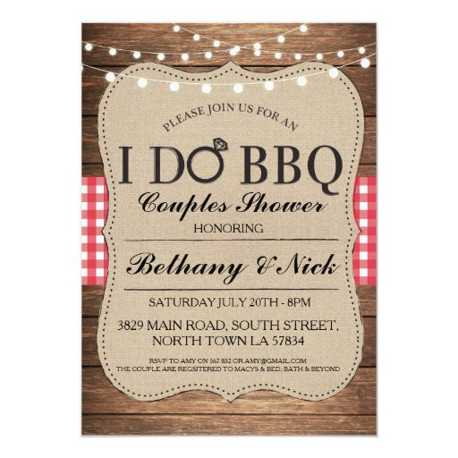 Rustic Couples Shower Invitations