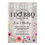 ❤️ Pretty Pink Floral Shabby Chic I Do BBQ Invitation