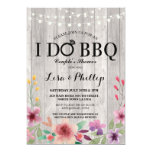 ❤️ Pretty Pink Floral Shabby Chic I Do BBQ Invitation