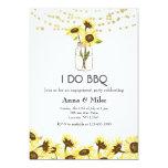 Simple Sunflowers & String Lights I Do BBQ Invitation