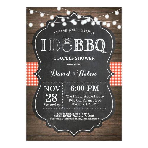I DO BBQ Invitation Rustic Wedding Engagment