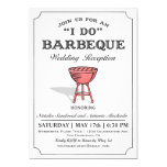 Simple Casual Grill I Do BBQ Invitation