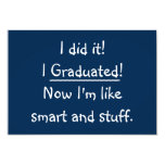❤️ I Graduated Funny Graduation Party Invitation Card