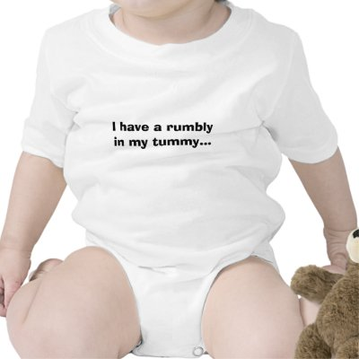 I have a rumbly in my tummy... t shirts by hvnsflnangel