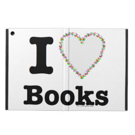I Heart Books - I Love Books! Colorful Swirls Cover For iPad Air