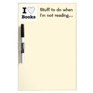 I Heart Books - I Love Books! Colorful Swirls Dry-Erase Whiteboard