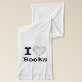 I Heart Books - I Love Books! Colorful Swirls Scarf