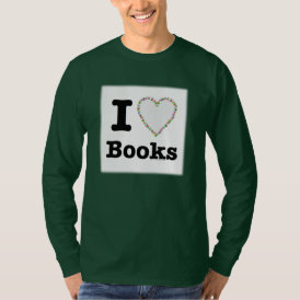 I Heart Books - I Love Books! Colorful Swirls T-Shirt