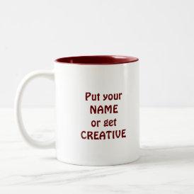 I Heart Books! I Love Books! (Crayon Heart) Two-Tone Coffee Mug