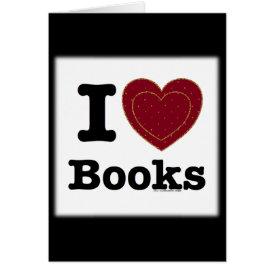 I Heart Books - I Love Books! (Double Heart) Card