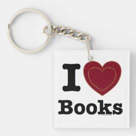 I Heart Books - I Love Books! (Double Heart) Keychain