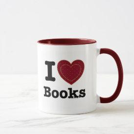 I Heart Books - I Love Books! (Double Heart) Mug