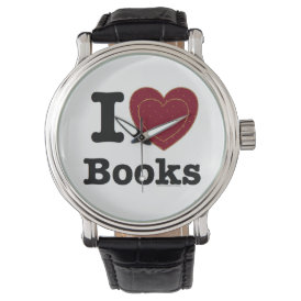 I Heart Books - I Love Books! (Double Heart) Watch