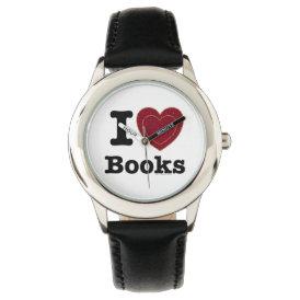 I Heart Books - I Love Books! (Double Heart) Wrist Watch
